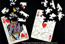 PUZZLE OF CARDS